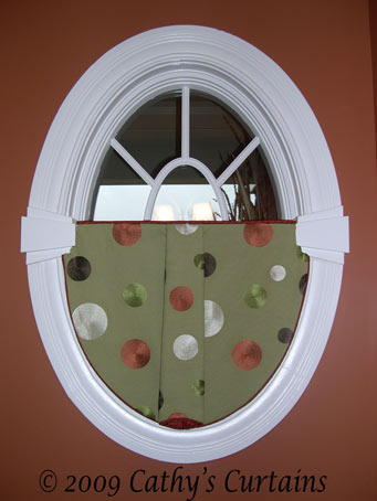 Window on pinterest for Window treatment for oval window